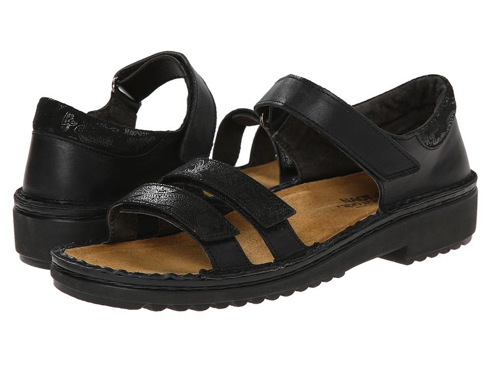 Naot Footwear Carlotta (Black Raven Leather/Black Lace Nubuck) Women