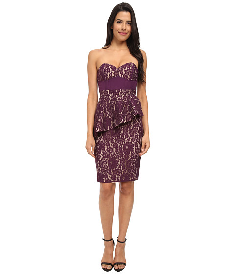 StyleStalker - Lotus Dress (Aubergine) Women's Dress