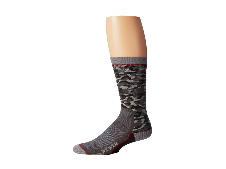 Wigwam - Camo Pro Crew (Black) Crew Cut Socks Shoes