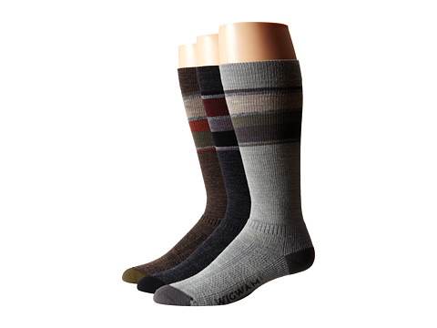 Wigwam - Tall Trekker Fusion 3-pack (Taupe/Brown Heather/Urban Chic/Oxford) Crew Cut Socks Shoes