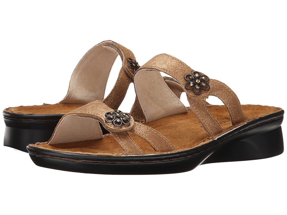 Naot Footwear - Melody (Gold Shimmer Leather) Women's Shoes