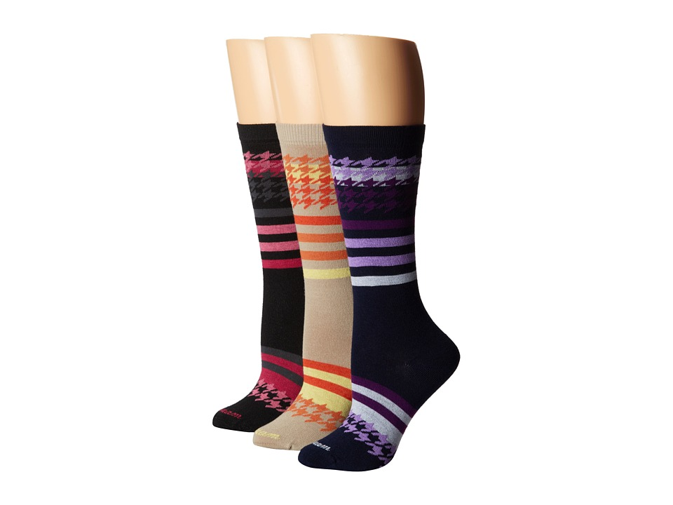 Wigwam - Sweet Tooth 3-pack (Black/Navy/Pure Taupe) Women's Crew Cut Socks Shoes