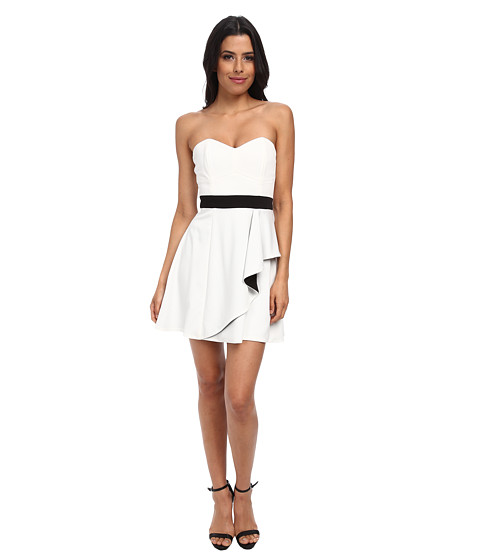 StyleStalker - Luna Dress (Black/White) Women's Dress
