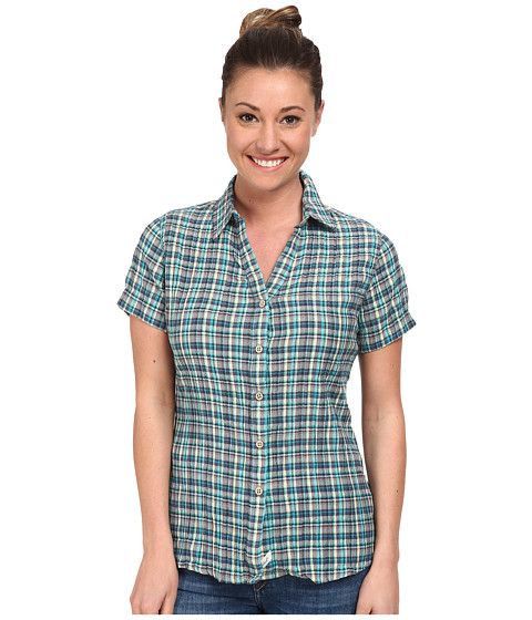 Woolrich - Carrabelle S/S Shirt (Parrot) Women's Short Sleeve Button Up