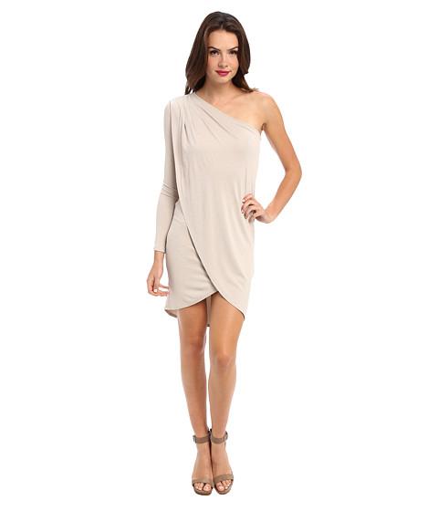 BCBGMAXAZRIA - Jolee One Shoulder Dress (Canvas) Women