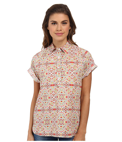 Woolrich - Spoil Her Printed Popover (Fresh Mint) Women's Short Sleeve Pullover