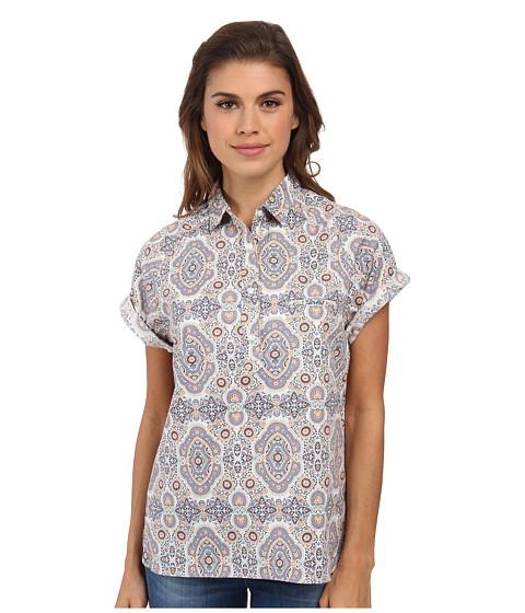 Woolrich - Spoil Her Printed Popover (Quartz) Women's Short Sleeve Pullover