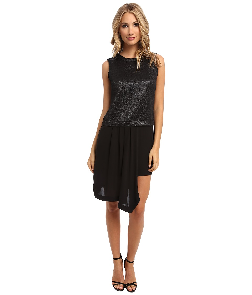 BCBGMAXAZRIA - Juliane Pleated Dress (Black) Women's Dress