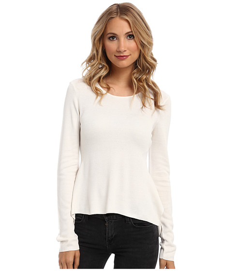 BCBGMAXAZRIA - Embellished Peplum Sweater (Gardenia) Women's Sweater