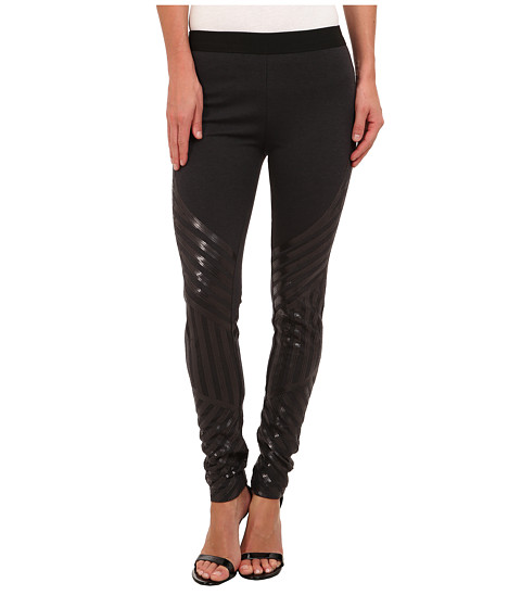 BCBGMAXAZRIA - Lacie Sequin Legging (Dark Charcoal Heather Grey) Women's Casual Pants