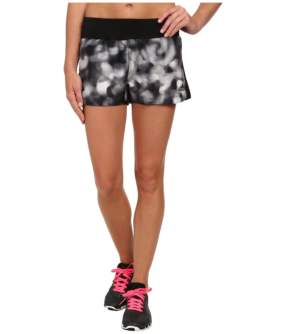 adidas - Mia 3 Woven Short - Festival Print (Mid Grey/Black) Women's Shorts