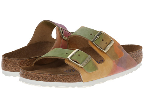 Birkenstock - Arizona Soft Footbed - Leather (Unisex) (Summer Breeze Nubuck) Sandals