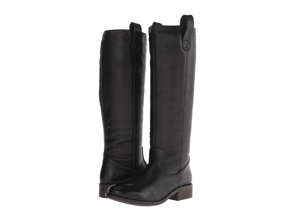 Fitzwell Rider Wide Calf (Black Vintage Leather) Women