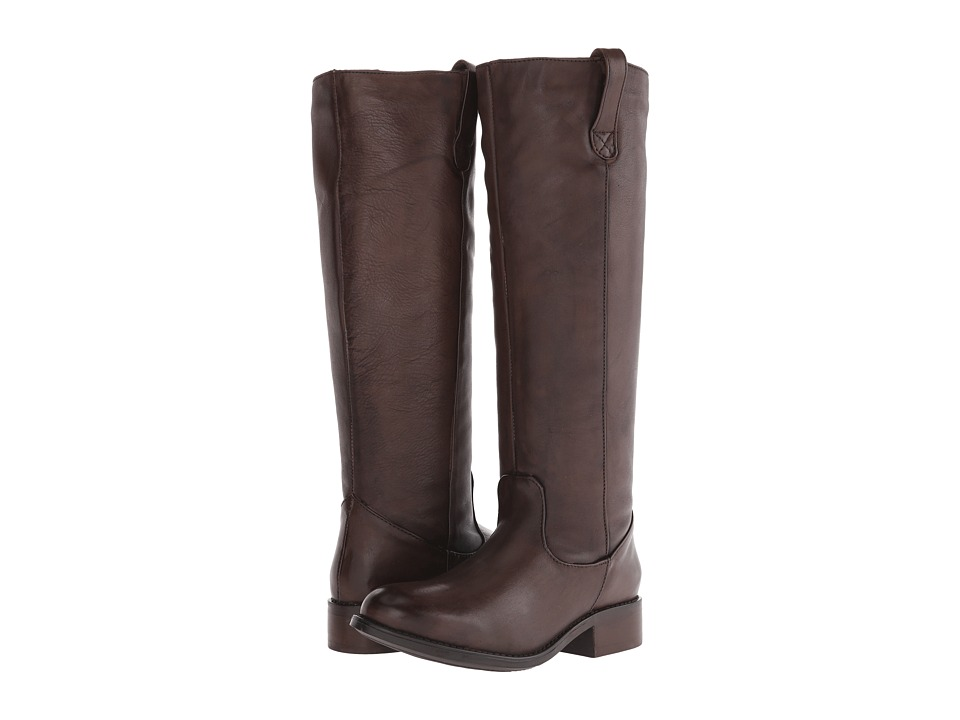 Fitzwell - Rider Wide Calf (Brown Vintage Leather) Women