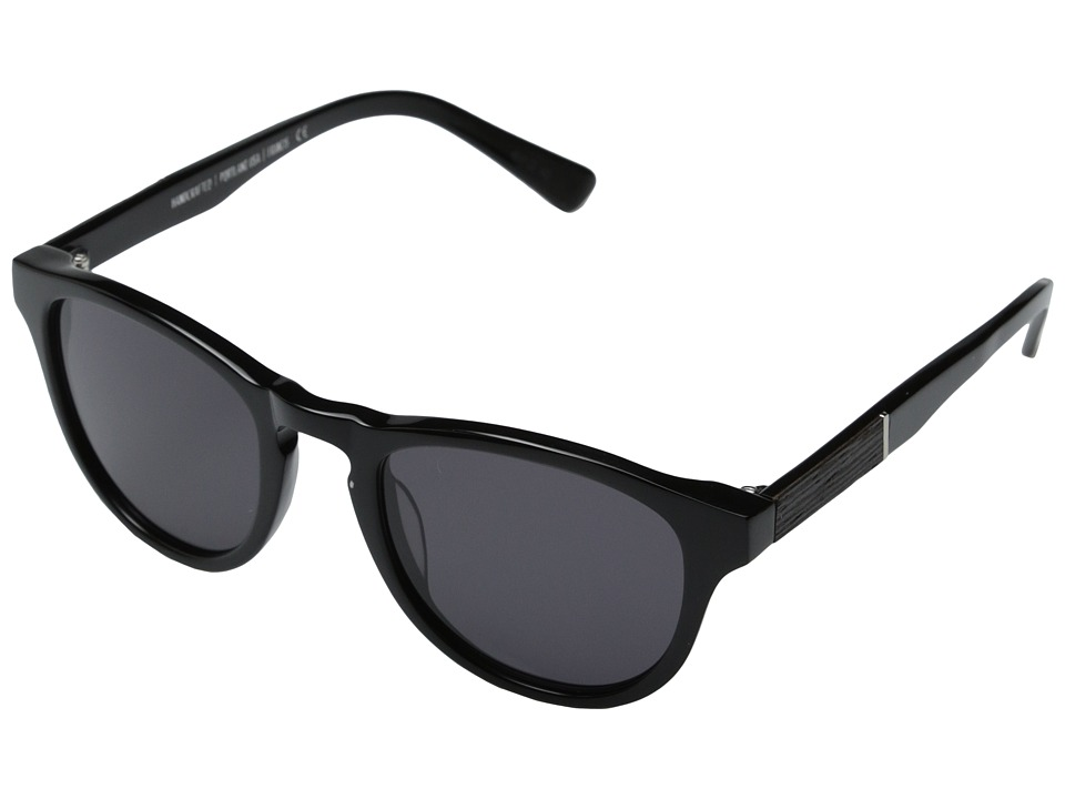 Shwood - Francis Fifty-Fifty (Black/Ebony/Grey) Fashion Sunglasses