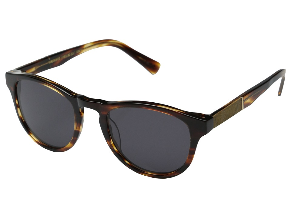 Shwood - Francis Fifty-Fifty (Tortoise Shell/Maple Burl/Grey) Fashion Sunglasses