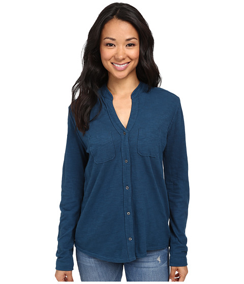 Woolrich - Convertible Knit Shirt (Atlantic) Women's Long Sleeve Button Up