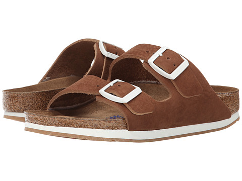 Birkenstock - Arizona Soft Footbed - Leather (Unisex) (Brown Nubuck) Sandals