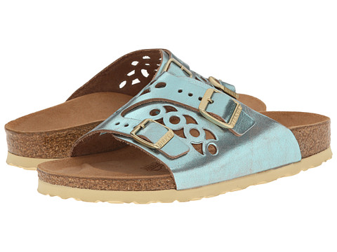 Birkenstock - Bellary (Metallic Azzurro Blue Leather) Sandals