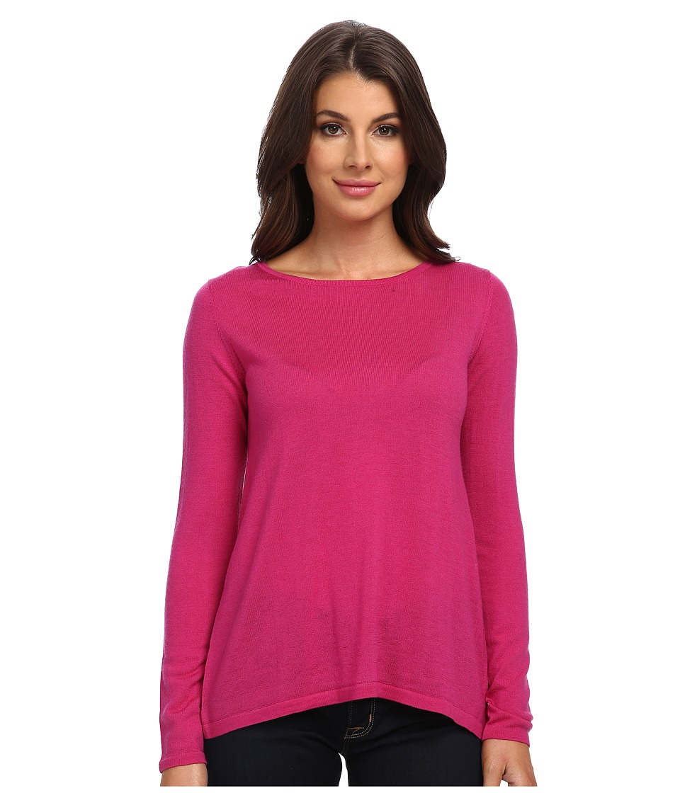 Kier + J - Lace Back Zip Top (Cyclamen) Women's Clothing