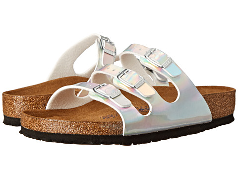 Birkenstock - Florida Soft Footbed (Mirror Silver Birko-Flor ) Sandals