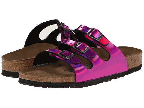 Birkenstock - Florida Soft Footbed (Mirror Pink Birko-Flor ) Sandals