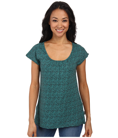 Woolrich - Passing Trails S/S Tee (Blue Fir Geo) Women's Short Sleeve Pullover