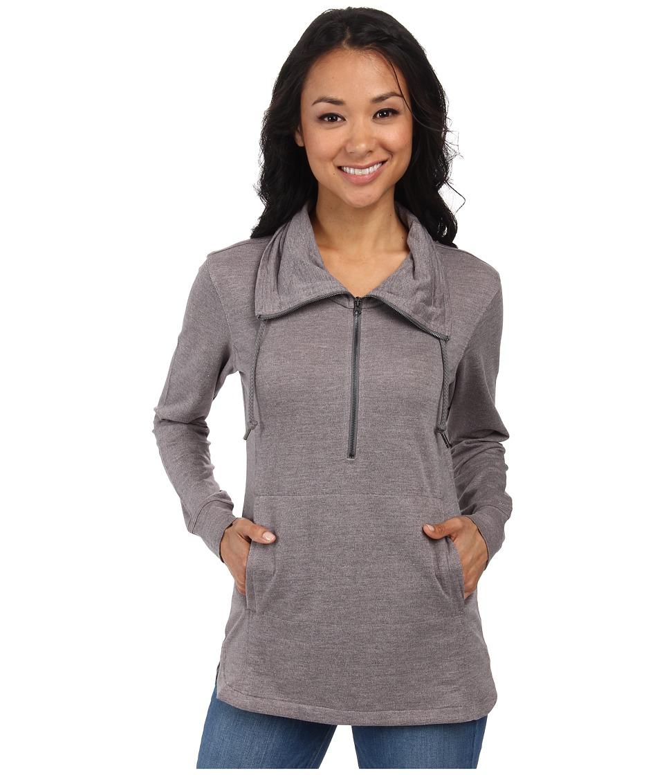 Woolrich - Uptown Popover (Dark Grey Heather) Women's Sweater
