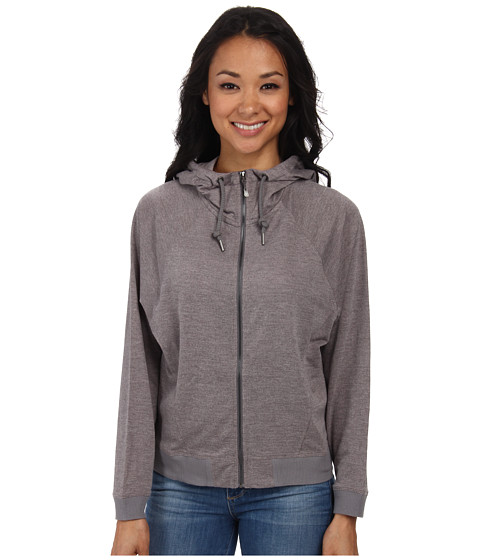 Woolrich - Uptown Full-Zip Hoodie (Dark Gray Heather) Women
