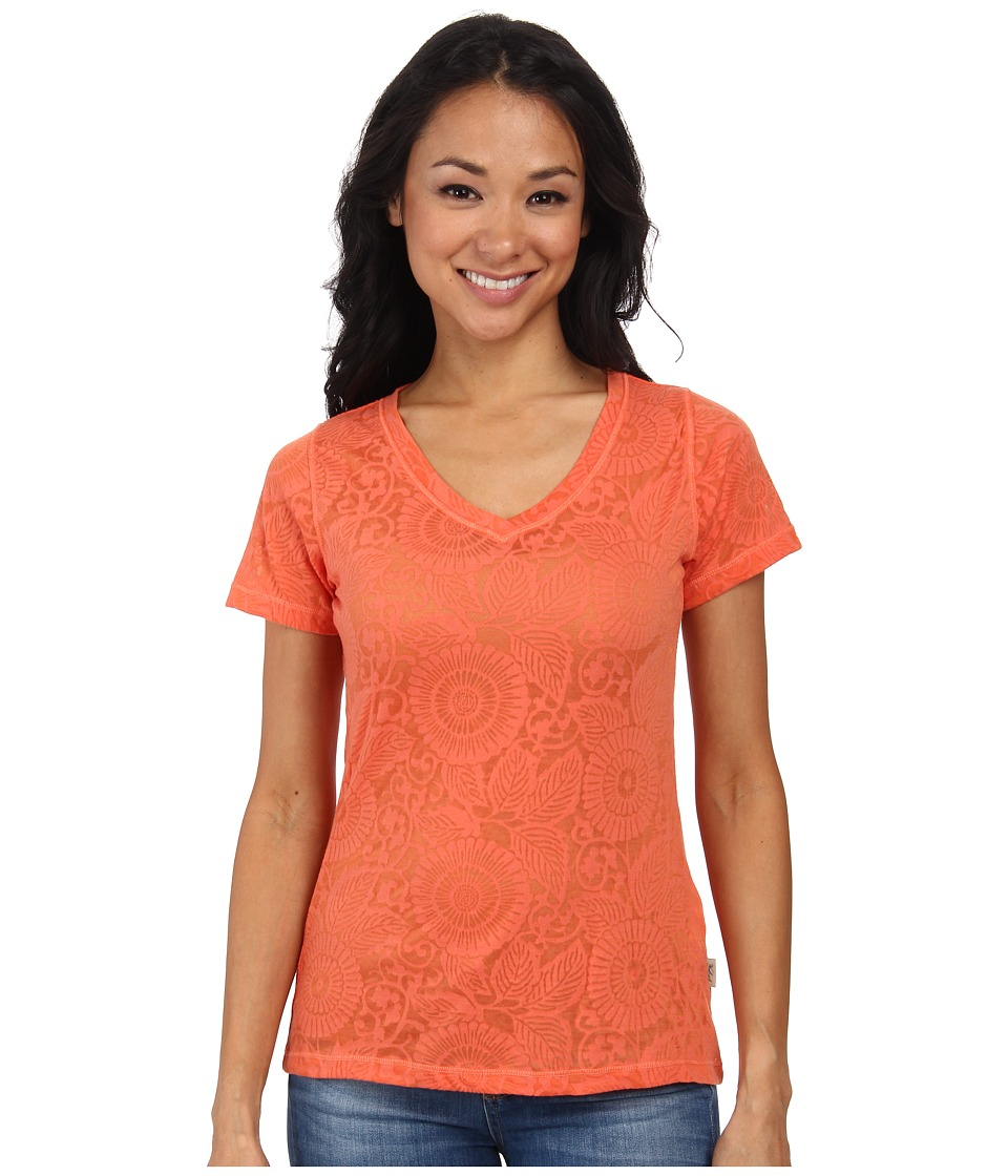 Woolrich - Wide Open Spaces Burn Out Tee (Guava) Women's T Shirt