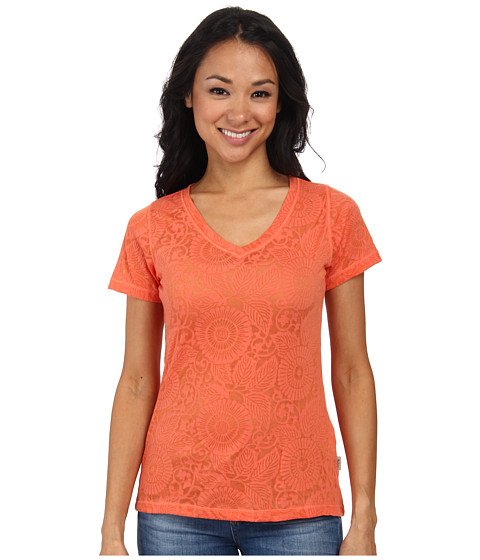Woolrich - Wide Open Spaces Burn Out Tee (Guava) Women
