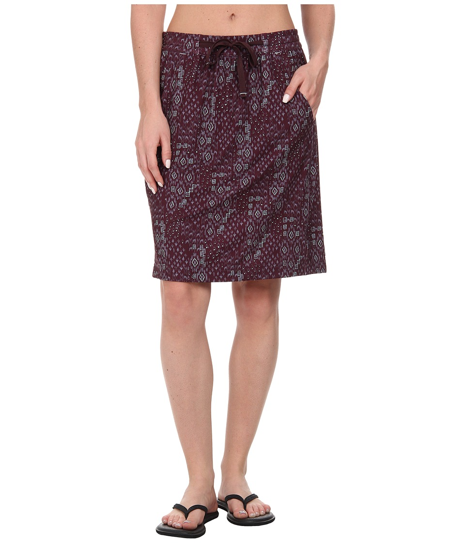 Woolrich - Center Line Printed Skirt (Dark Plum Print) Women's Skirt