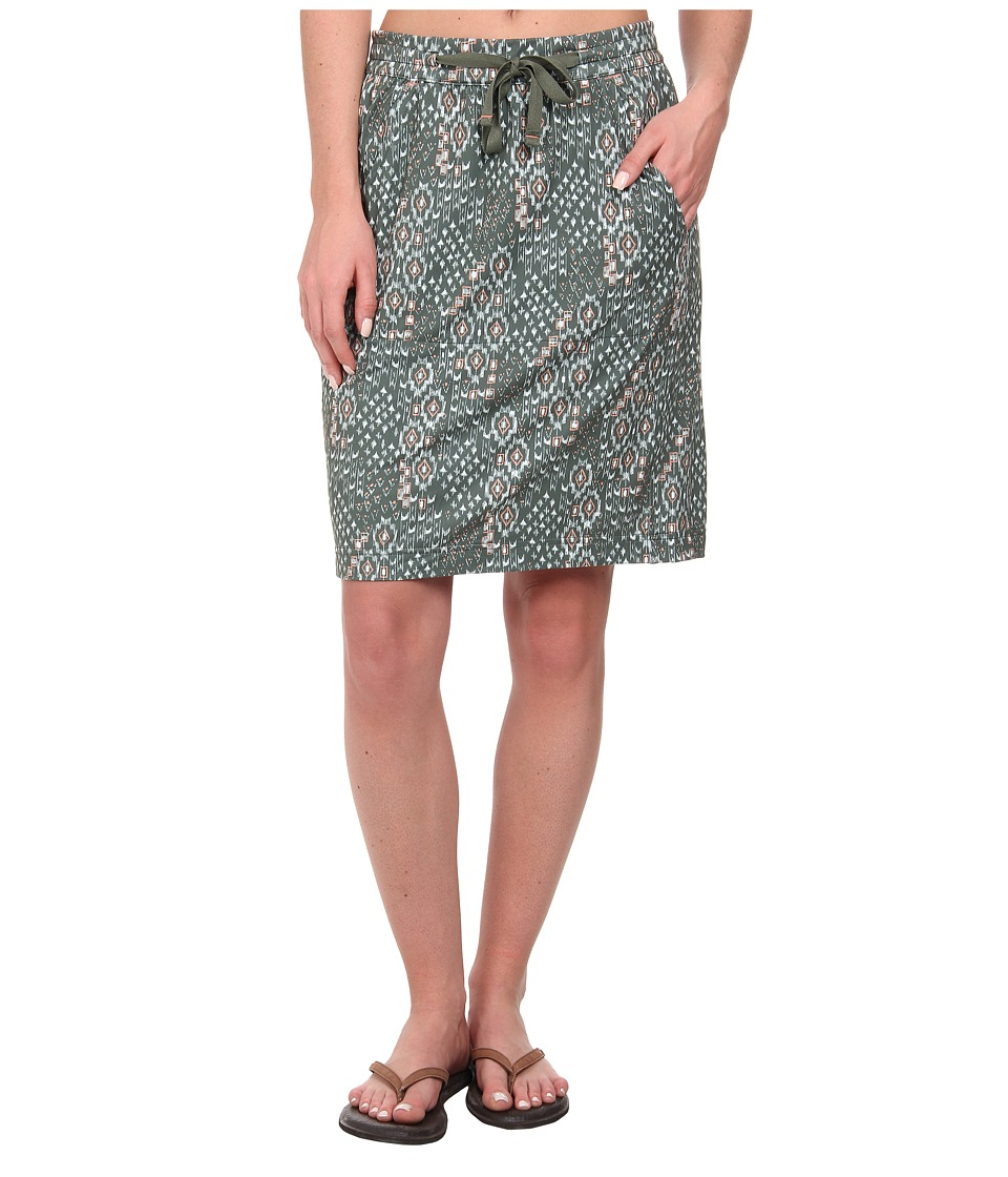Woolrich - Center Line Printed Skirt (Olive Drab) Women