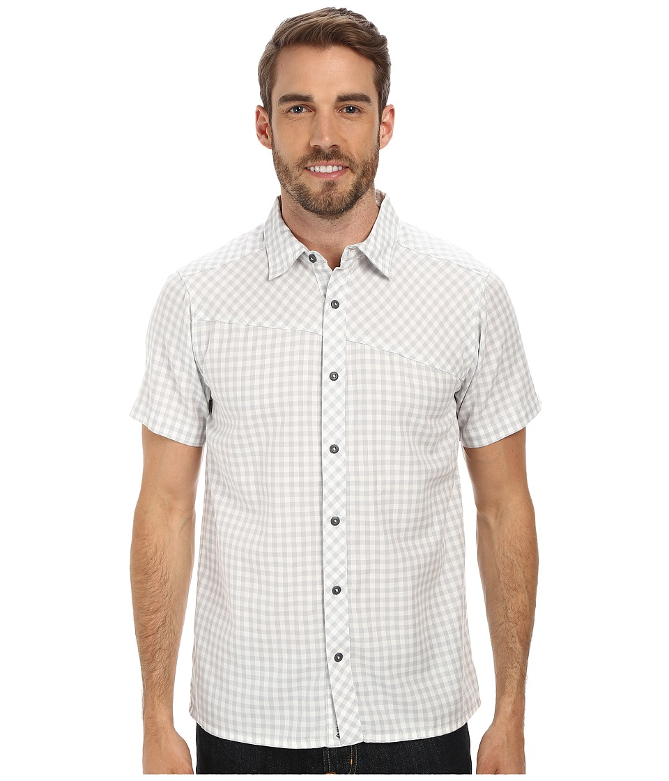Black Diamond - S/S Spotter Shirt (Ice/Aluminum Gingham) Men's Short Sleeve Button Up