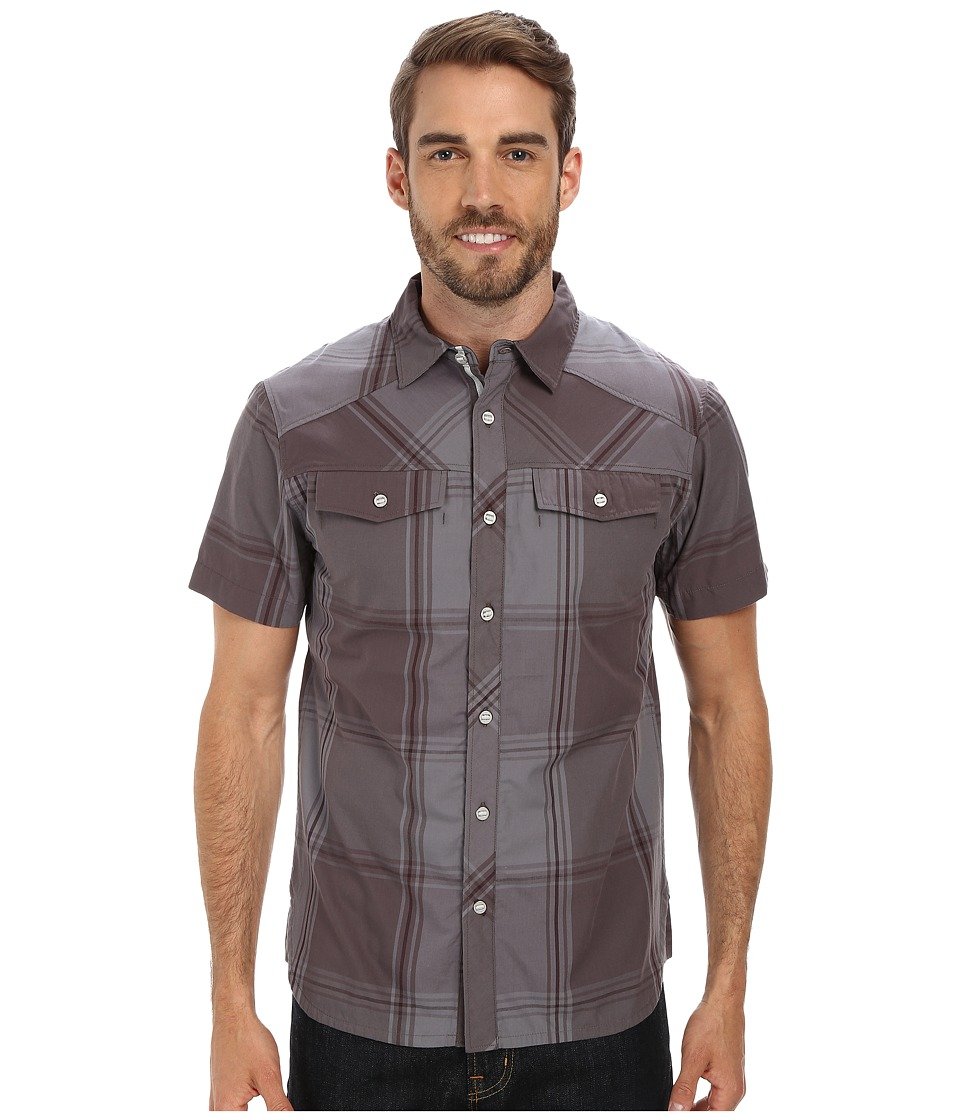 Black Diamond - S/S Technician Shirt (Slate/Port Plaid) Men's Short Sleeve Button Up