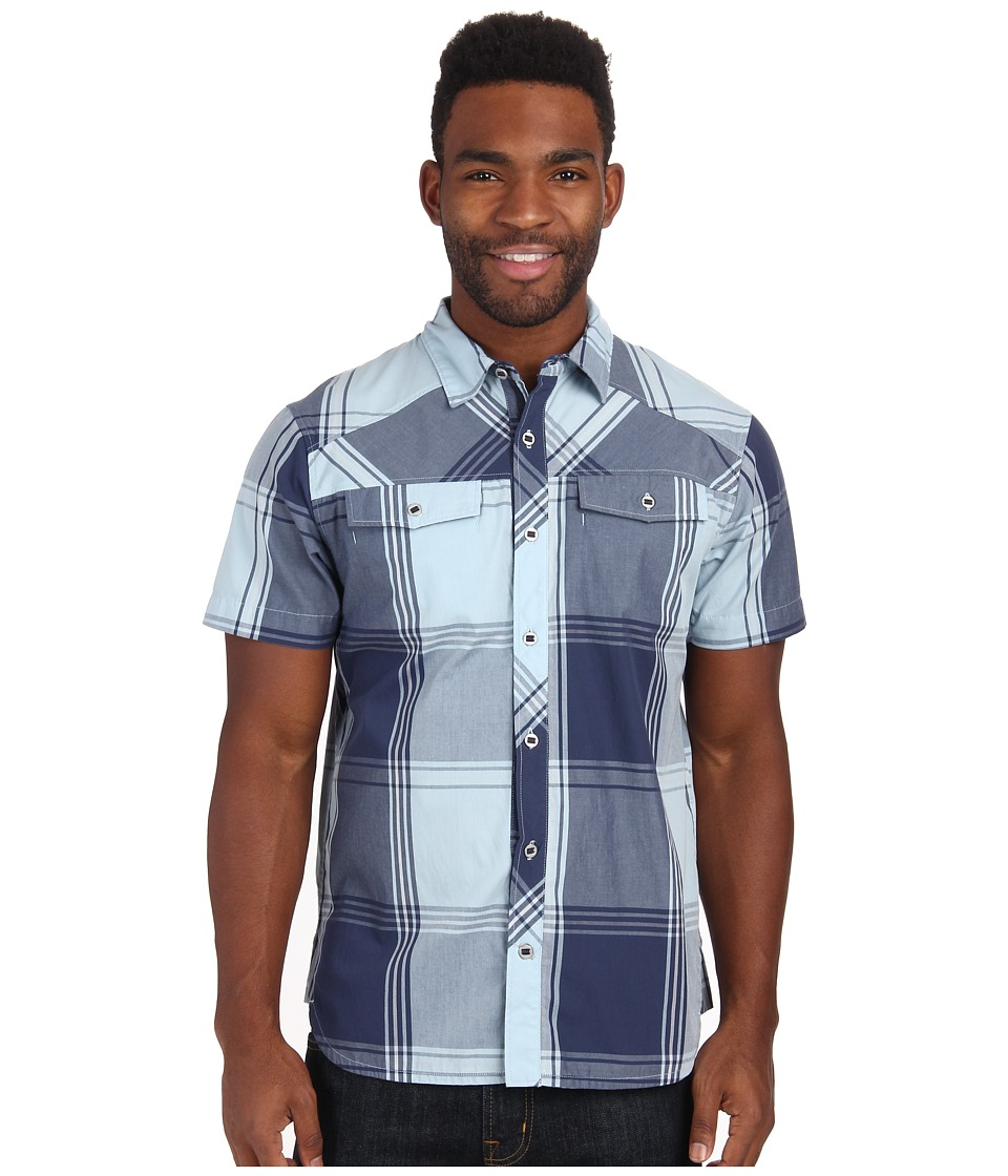 Black Diamond - S/S Technician Shirt (Indigo/Aluminum Plaid) Men's Short Sleeve Button Up