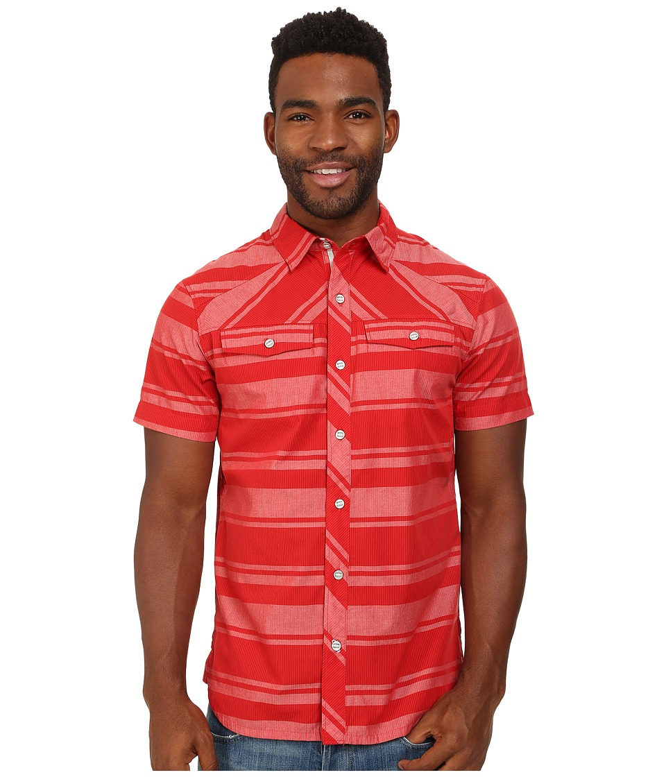 Black Diamond - S/S Technician Shirt (Torch/Ice Stripe) Men's Short Sleeve Button Up