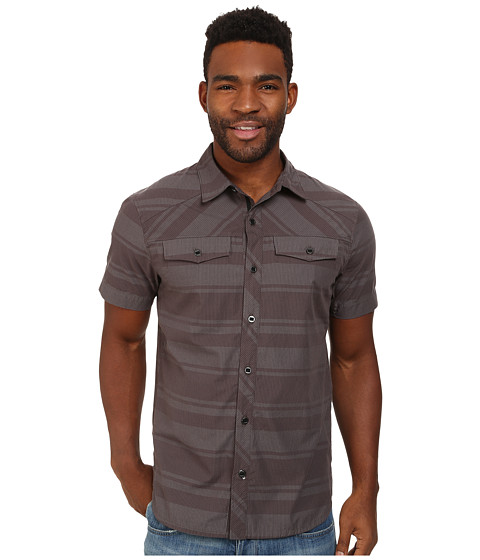Black Diamond - S/S Technician Shirt (Nickel/Black Stripe) Men's Short Sleeve Button Up
