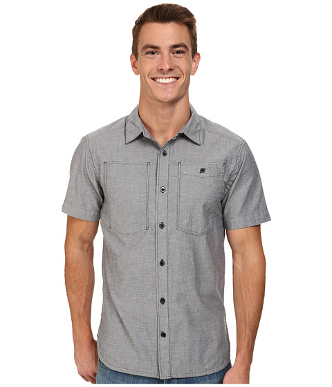 Black Diamond - S/S Chambray Modernist Shirt (Slate) Men's Short Sleeve Button Up