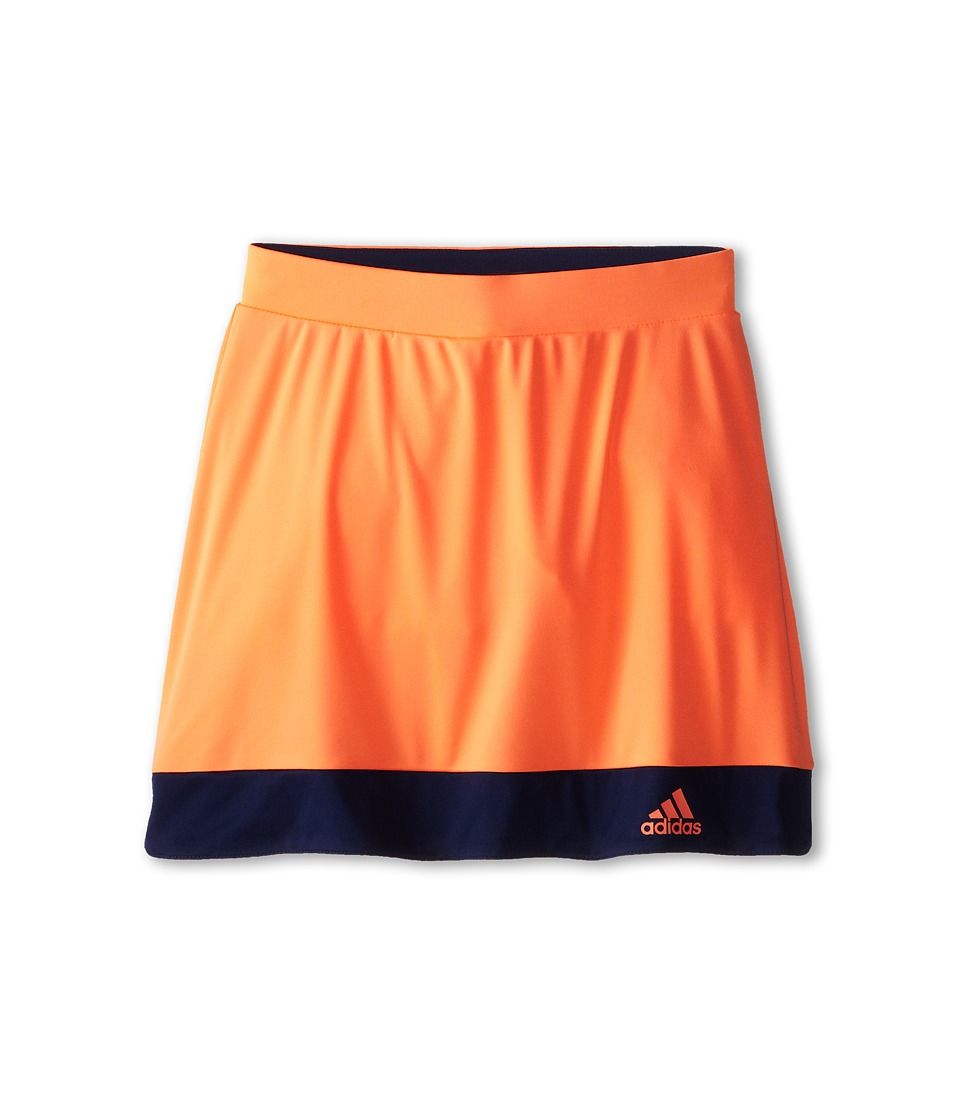 adidas Kids - Galaxy Skort (Little Kids/Big Kids) (Flash Orange/Night Sky) Girl's Skort
