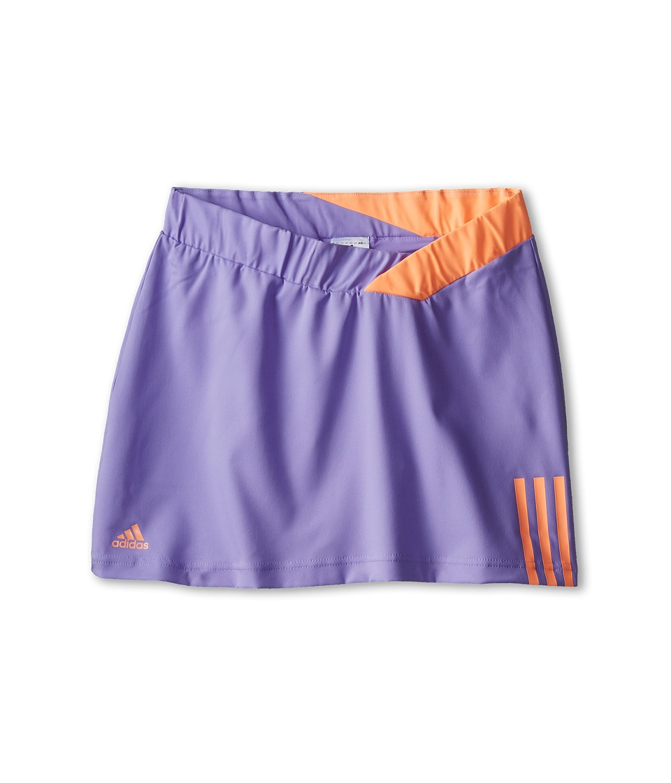 adidas Kids - Response Skort (Little Kids/Big Kids) (Light Flash Purple/Orange) Girl's Skort