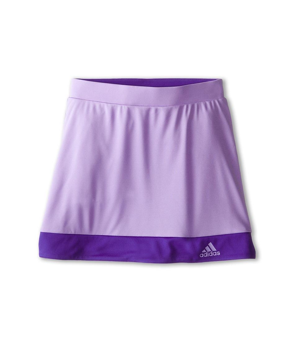adidas Kids - Galaxy Skort (Little Kids/Big Kids) (Light Flash Purple/Night Flash) Girl's Skort