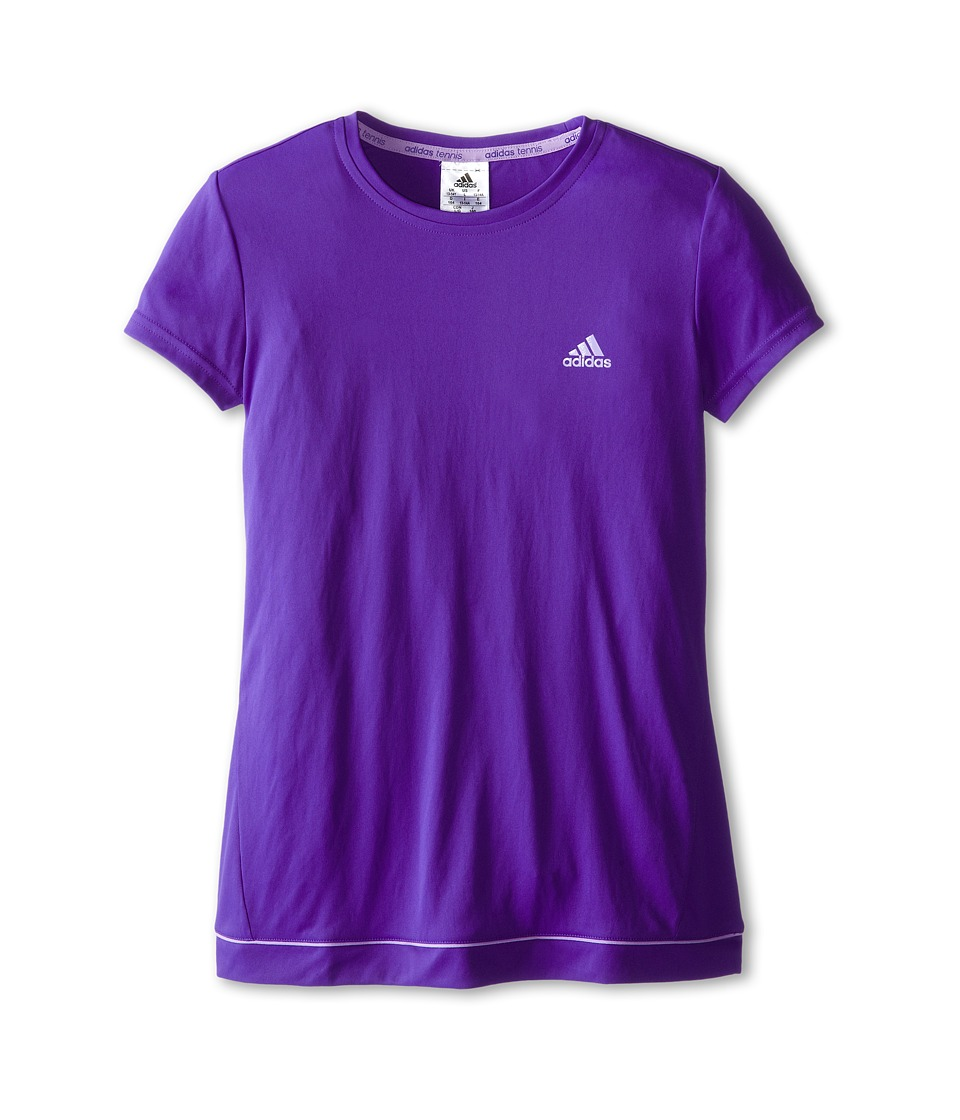 adidas Kids - Galaxy Tee (Little Kids/Big Kids) (Night Flash/Flash Purple) Girl's Short Sleeve Pullover
