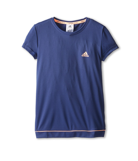 adidas Kids - Galaxy Tee (Little Kids/Big Kids) (Night Sky/Flash Orange) Girl's Short Sleeve Pullover
