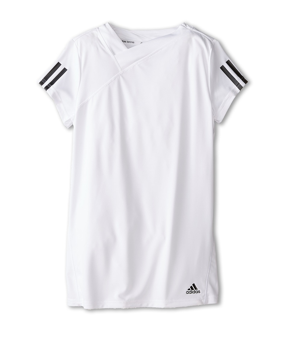 adidas Kids - Response Tee (Little Kids/Big Kids) (White/Black) Girl's T Shirt