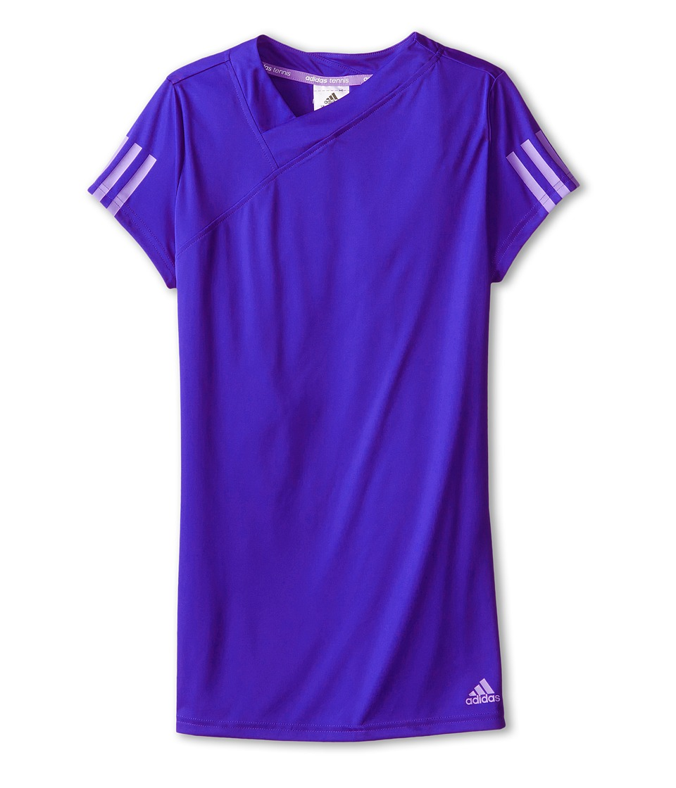 adidas Kids - Response Tee (Little Kids/Big Kids) (Night Flash Purple/Flash Purple) Girl's T Shirt