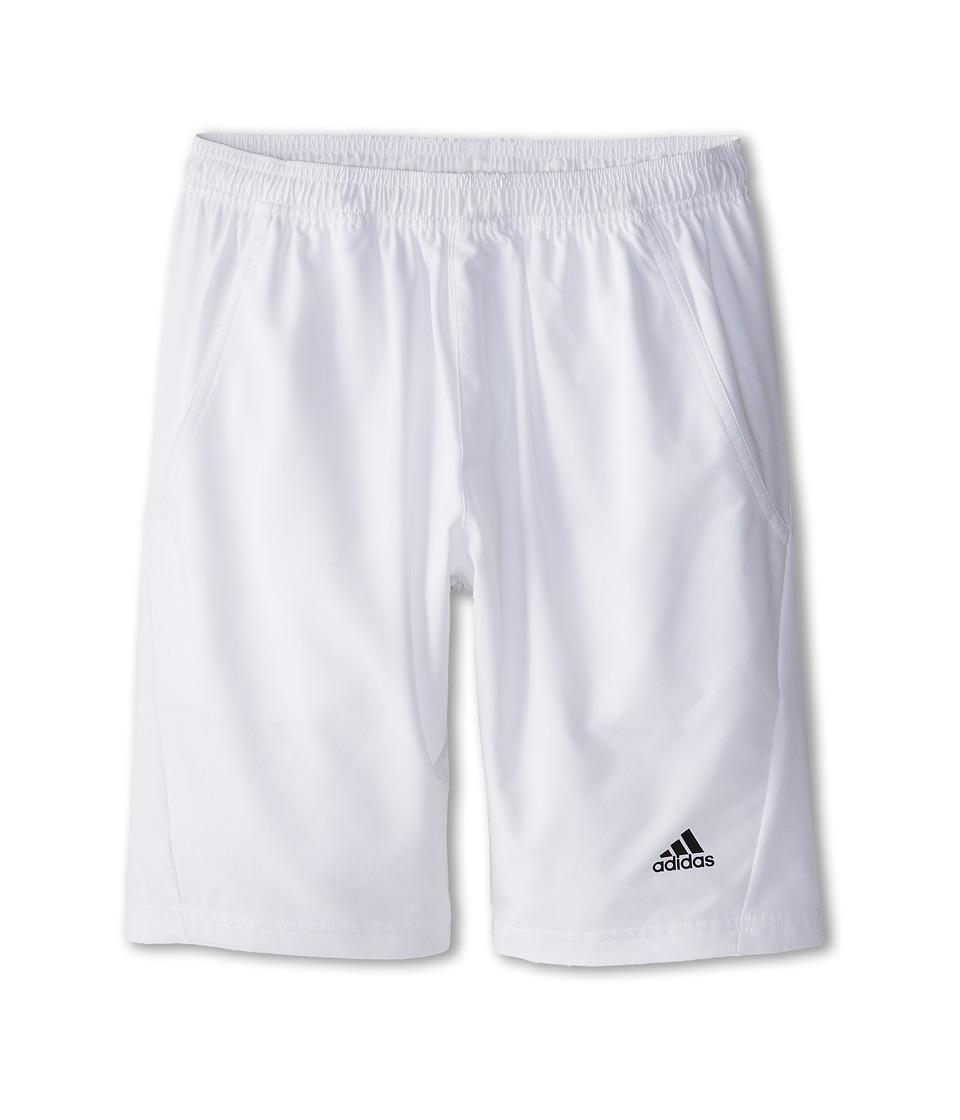 adidas Kids - TS Essex Short (Little Kids/Big Kids) (White/Black) Boy's Shorts