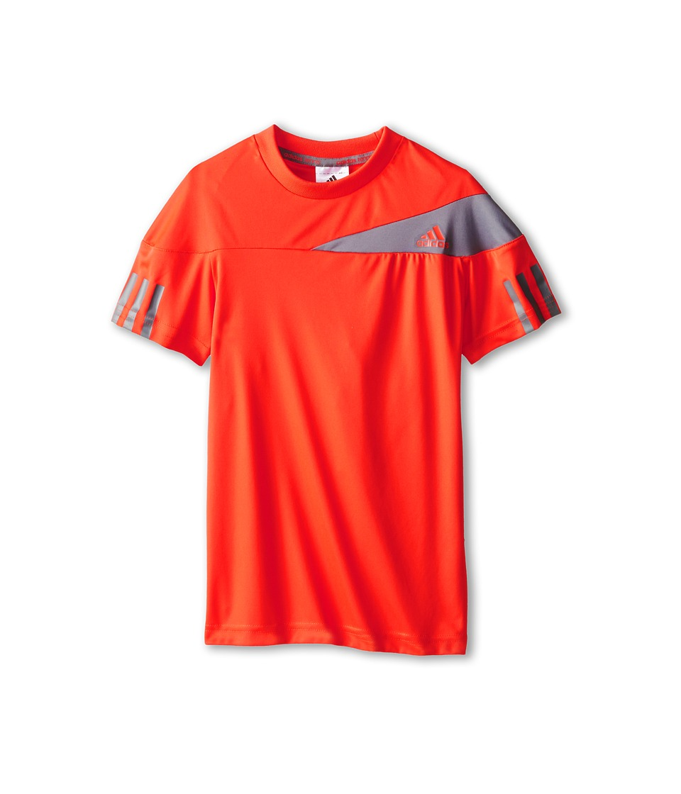 adidas Kids - Response Tee (Little Kids/Big Kids) (Bright Red/Vista Grey) Boy