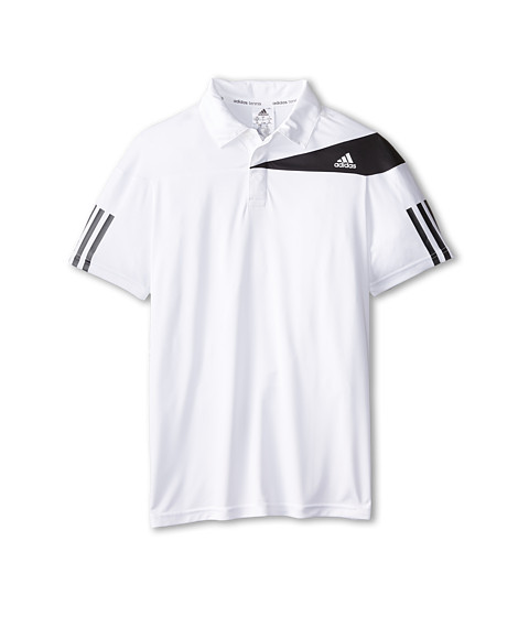 adidas Kids - Response Trad Polo (Little Kids/Big Kids) (White/Black) Boy's Short Sleeve Pullover