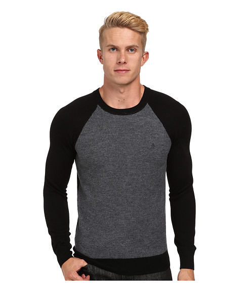Original Penguin - Boiled Wool Sweater (True Black) Men